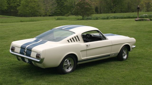 '65 Shelby GT350, right rear view
