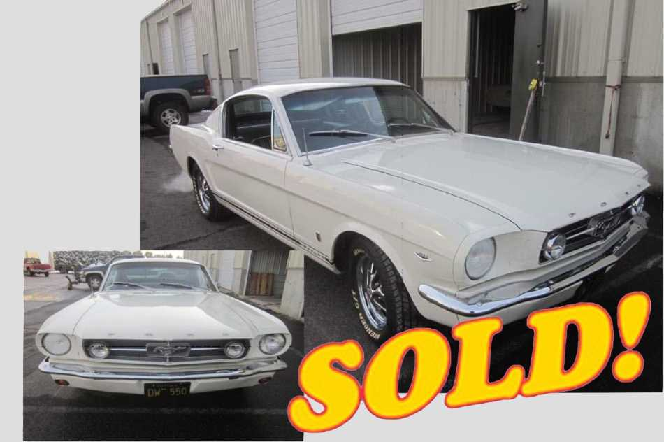 1965 Mustang GT Fastback, sold!